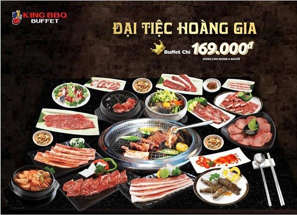Buffet nướng Hàn Quốc giá ưu đãi tại King BBQ