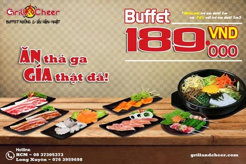 Thưởng thức buffet nướng Hàn – Nhật tại Hồ Chí Minh chỉ với 189k
